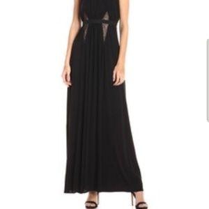 BCBG Maxazria Stehla Lace-Blocked Jersey Gown, Siz